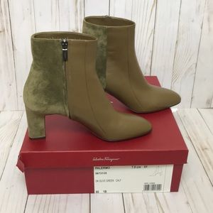 Salvatore Ferragamo Suede/Leather Palermo Boots 8